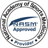 NASM National Academy of Sports Medicine Pre Approved Provider