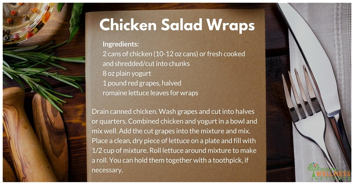 easy chicken salad wrap