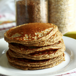 healthy pancakes on plate