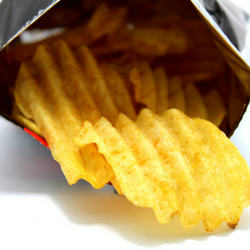 potato chips filled with artificial trans fats