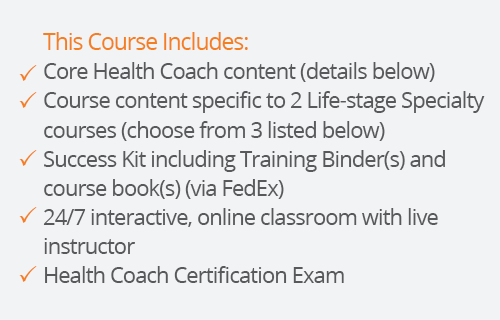 success kit for health coach certification with two lifestages