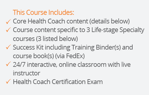 success kit for health coach certification with three lifestages