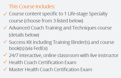 success kit for master health coach certification with one lifestages