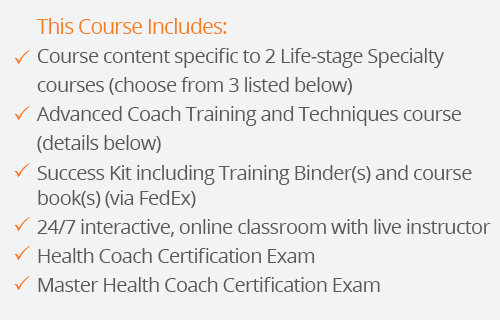 success kit for master health coach certification with two lifestages