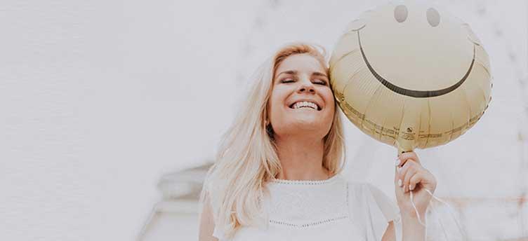happy woman smilling
